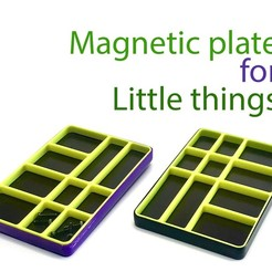 Download free 3D printing templates Magnetic plate for little things, Ruvimkub