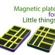 Download free STL file Magnetic plate for little things • Model to 3D print, Ruvimkub