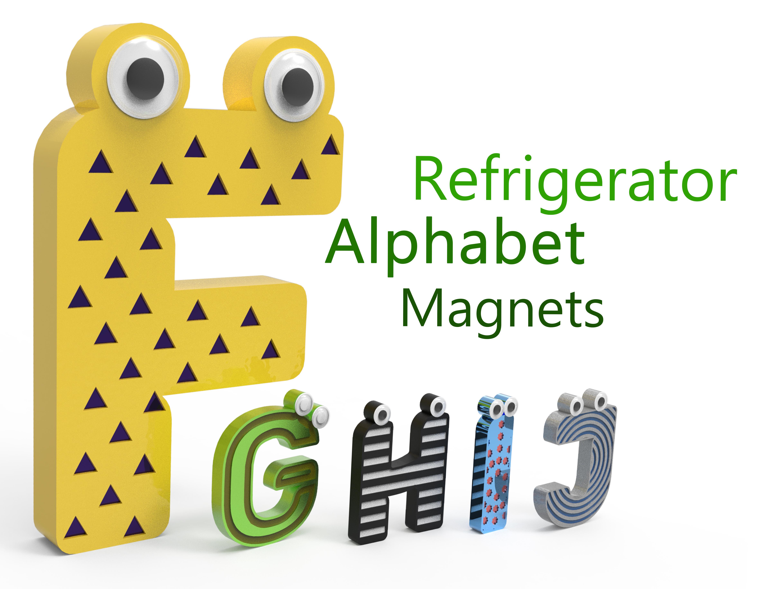 1234475.jpg Télécharger fichier STL gratuit Alphabet pour enfants. F G H H I J J • Objet imprimable en 3D, Ruvimkub