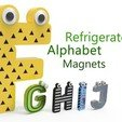 Download free 3D printer designs Alphabet for children. F G H I J, Ruvimkub