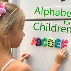 Download free 3D printing templates Alphabet for children. U V W X Y Z, Ruvimkub