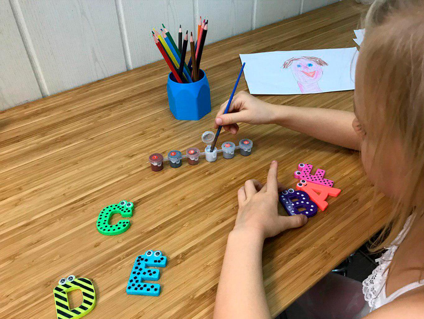 16.jpg Download free STL file Alphabet for children. K L M N O • Model to 3D print, Ruvimkub