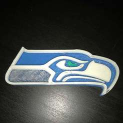 Download free STL Seattle Seahawks Logo (With Different Colors and Layers), MakerMathieu