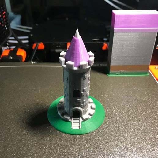 Télécharger plan imprimante 3D gatuit Tour du château ! (Multicolore/Multimatériau), MakerMathieu
