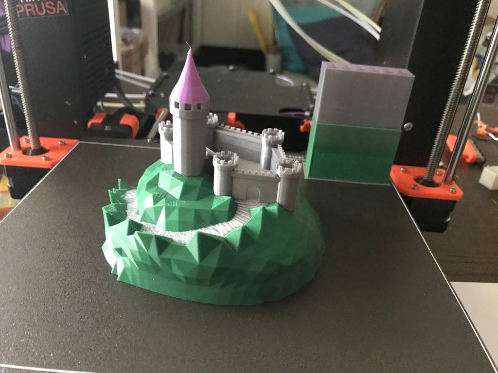 IMG_8980[1.JPG Télécharger fichier GCODE gratuit Castle Mountain ! (Multicolore/Multimatériau) • Modèle pour imprimante 3D, MakerMathieu