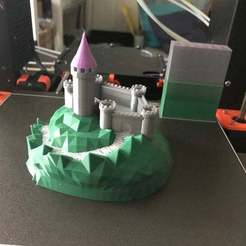 Download free 3D print files Castle Mountain! (Multicolor/Multimaterial), MakerMathieu