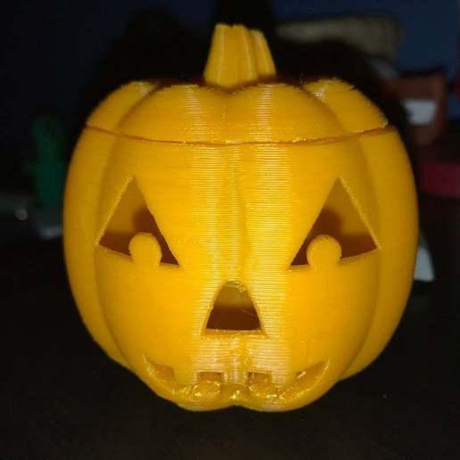 Download free 3D printing models Halloween Jack-O-Lantern!, MakerMathieu
