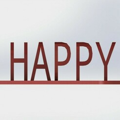 "happy.JPG Download STL file Text Flip ""Happy 2021"" • 3D printer template, atadam"