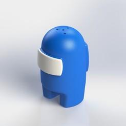 7.JPG Download STL file Among Us Figurin Shaker / Container • 3D printer design, atadam