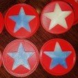 Download 3D printing designs Star Snap Badge, abbymath