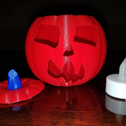 20191029_190733.jpg Download STL file Jack-O'-Lantern Scary Face • Template to 3D print, abbymath