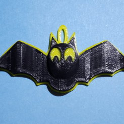 Download free STL files Bat Pendant, abbymath