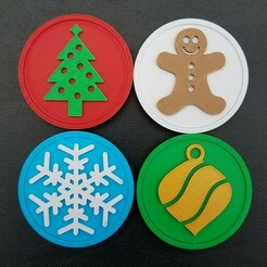 20201212_092055 edit.jpg Download STL file Holiday Snap Badge Set • Object to 3D print, abbymath