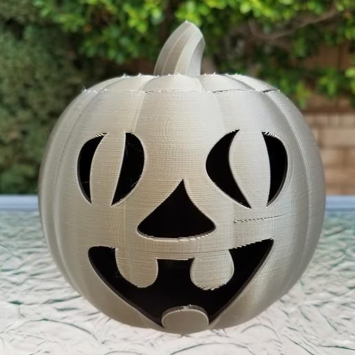 20201022_101754.jpg Download STL file Jack-O'-Lantern Funny Face • 3D printable design, abbymath