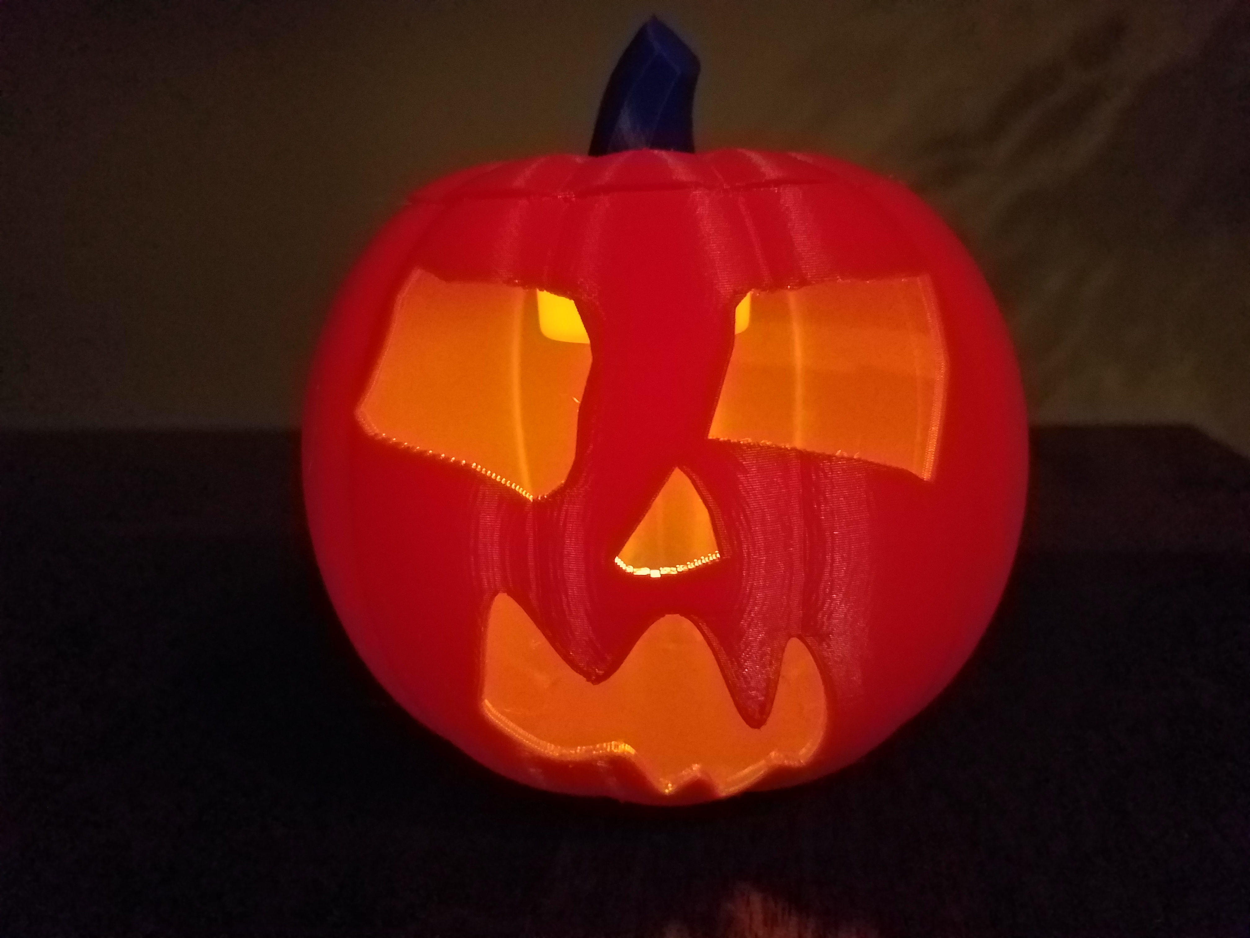 20191029_190543.jpg Download STL file Jack-O'-Lantern Scary Face • Template to 3D print, abbymath