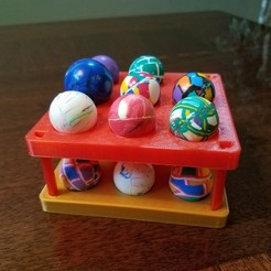 20191111_140725.jpg Download free STL file Stacking Bouncy Ball Holder • 3D print design, abbymath