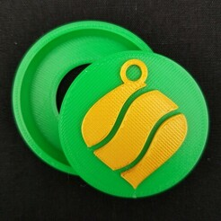 20201212_094755.jpg Download STL file Ornament Snap Badge • Design to 3D print, abbymath