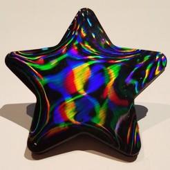 StarDiffractionGrating.jpg Télécharger fichier STL gratuit Étoile pour essai de réseau de diffraction • Plan à imprimer en 3D, abbymath