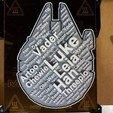 Imprimir en 3D Star Wars WordCloud, abbymath