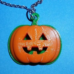 Download free 3D printer templates Jack-O'-Lantern Pendant, abbymath