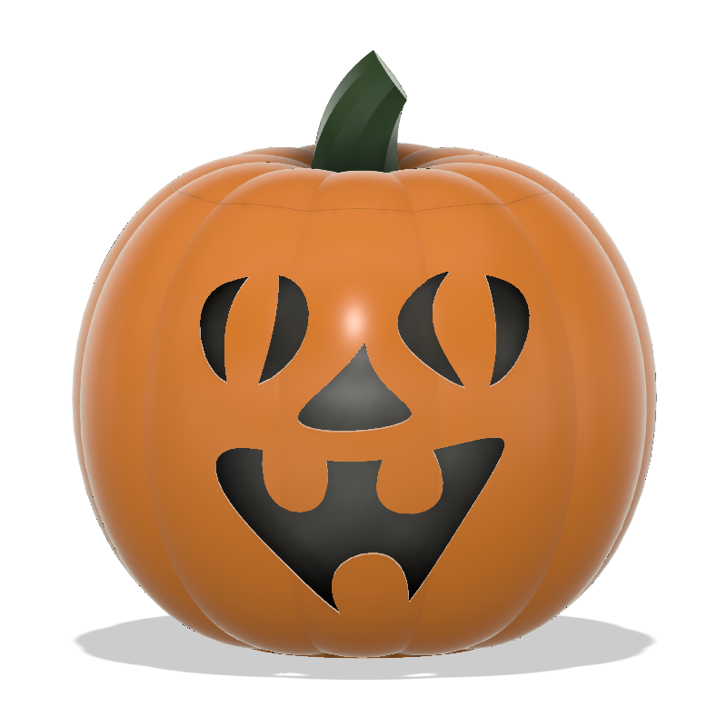 Jack-O-Lantern Funny Face Capture.PNG Télécharger fichier STL Visage drôle de la lanterne Jack-O'-Lanterne • Objet imprimable en 3D, abbymath