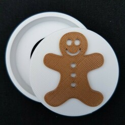 20201212_095048.jpg Download STL file Gingerbread Snap Badge • 3D printing design, abbymath