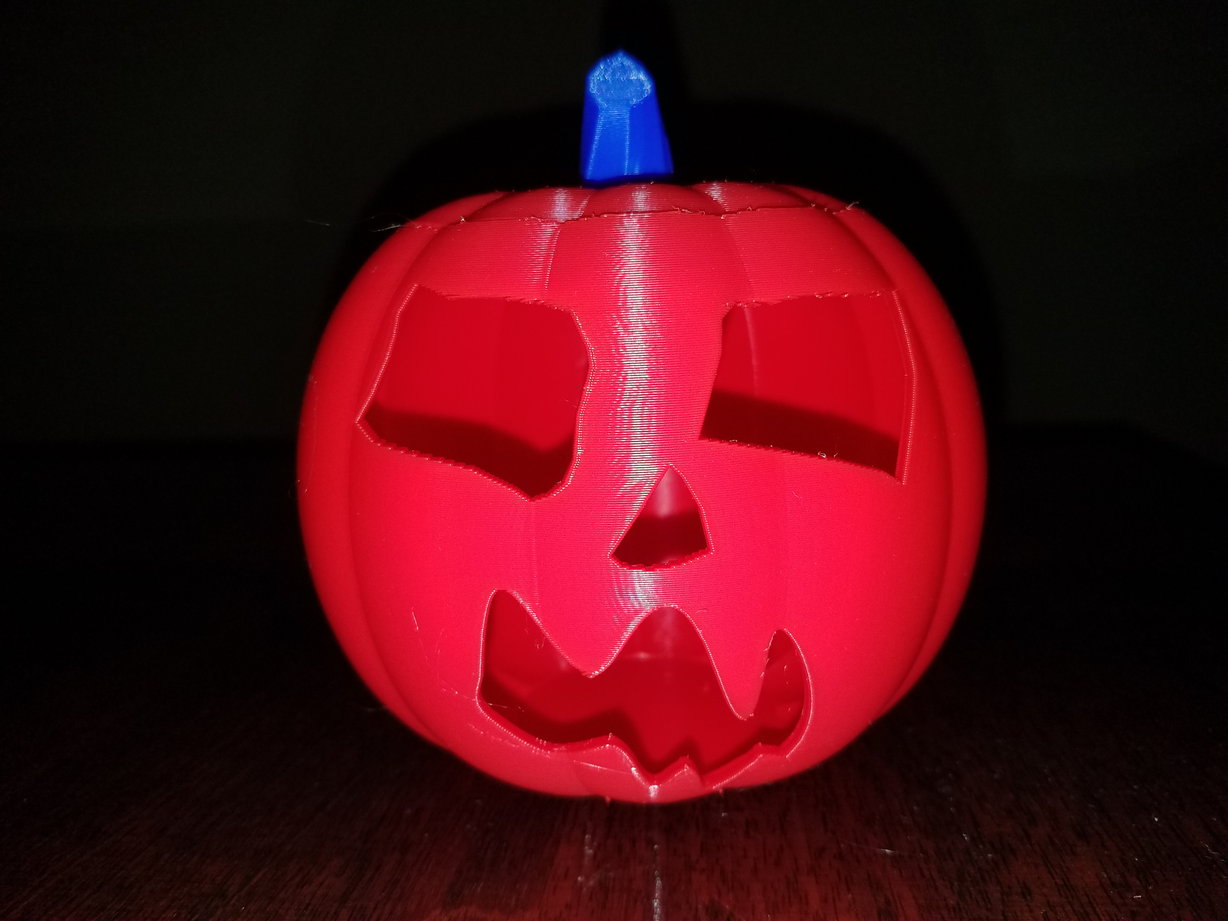 20191029_190622.jpg Download STL file Jack-O'-Lantern Scary Face • Template to 3D print, abbymath