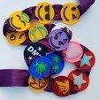 Télécharger fichier impression 3D Badge Snap Emoji Démon Emoji, abbymath