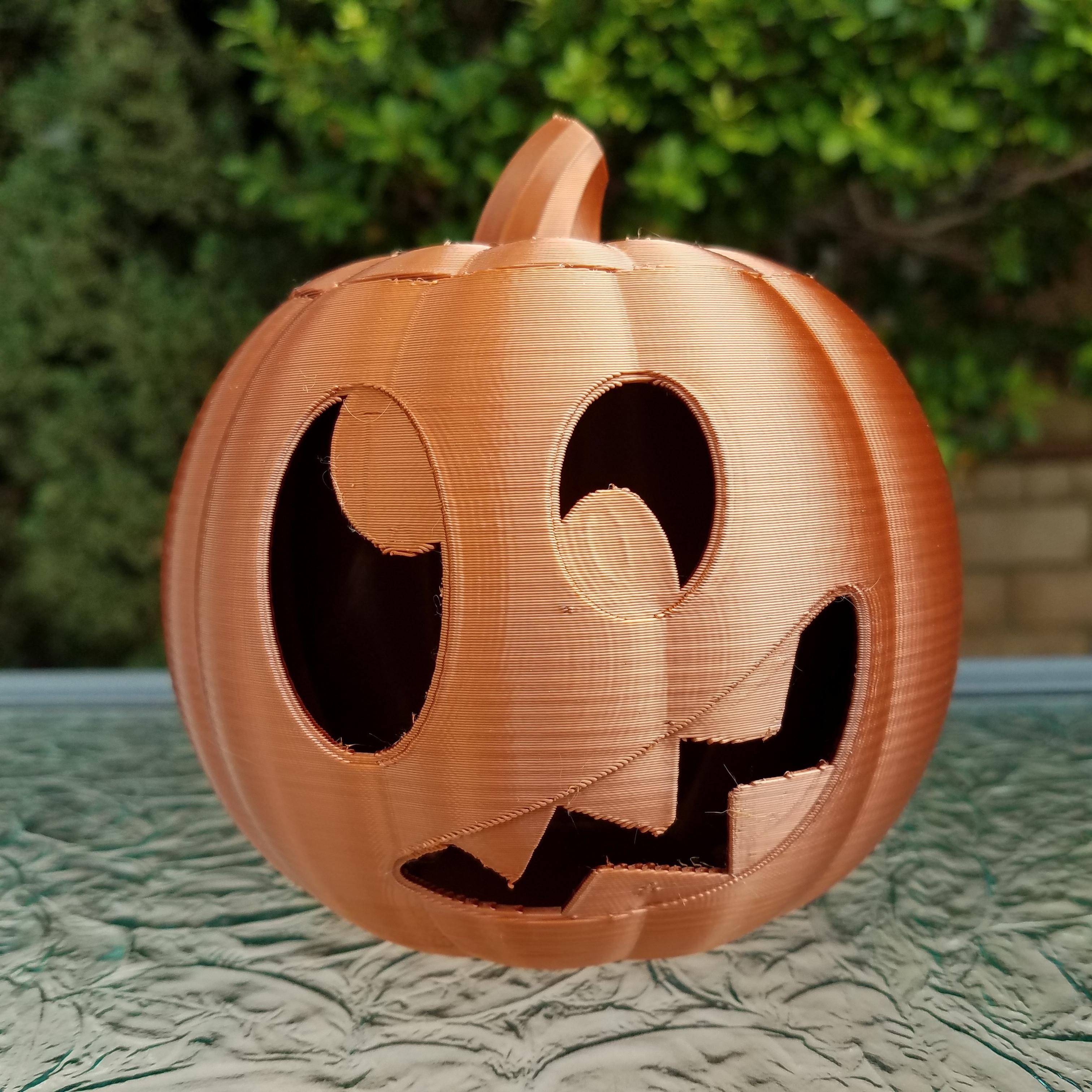 20201022_101529.jpg Download STL file Jack-O'-Lantern Silly Monster • 3D printing model, abbymath
