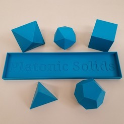 20191112_084602.jpg Download free STL file Platonic Solids with Tray • Model to 3D print, abbymath