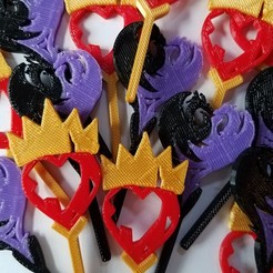 Download free 3D printing designs Descendants Cupcake Toppers, abbymath
