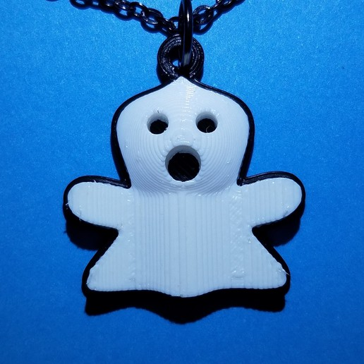 Download free STL files Ghost Pendant, abbymath