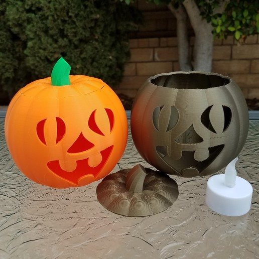 20201022_101915.jpg Download STL file Jack-O'-Lantern Funny Face • 3D printable design, abbymath