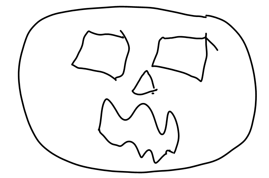 Scary_Face_Sketch.png Download STL file Jack-O'-Lantern Scary Face • Template to 3D print, abbymath
