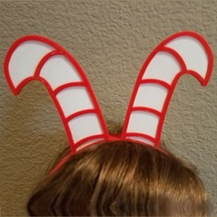 Download free 3D printer files Candy Cane Headbands, abbymath