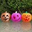 20201022_102828.jpg Download STL file Jack-O'-Lantern Funny Face • 3D printable design, abbymath