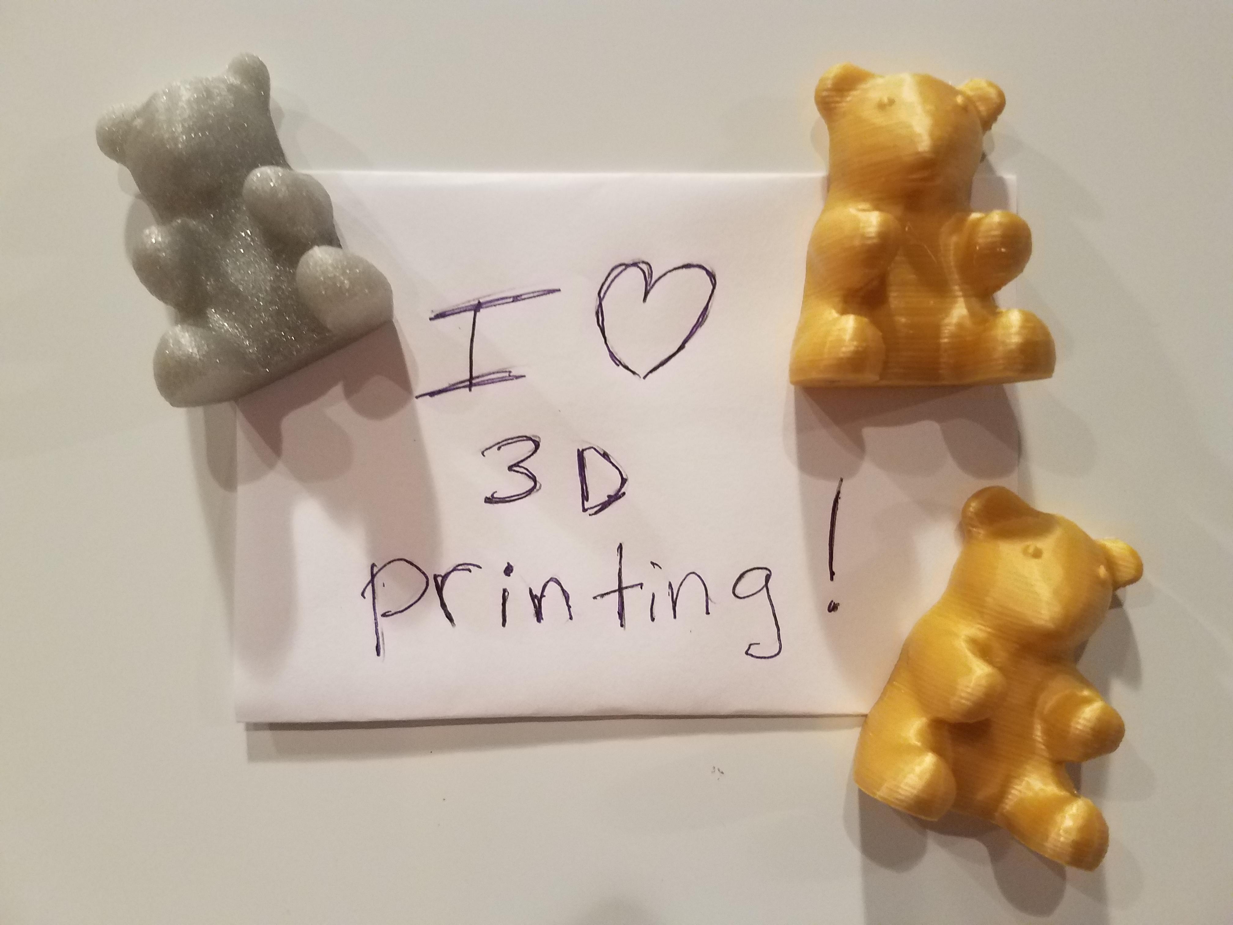 20190921_191718.jpg Télécharger fichier STL gratuit Ours en peluche pour l'aimant • Design pour imprimante 3D, abbymath
