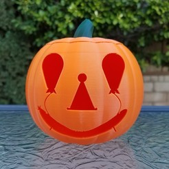20201027_164130 edit.jpg Download STL file Jack-O'-Lantern Balloon Face • 3D printer template, abbymath