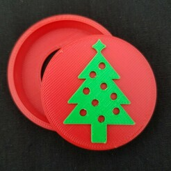 20201212_093735.jpg Download STL file Christmas Tree Snap Badge • 3D printing design, abbymath