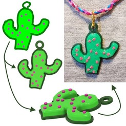Cactus Pendant for Instagram.jpg Download STL file Cactus Pendant • 3D printing object, abbymath