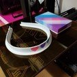 Download free 3D printing models Hearts Headband, abbymath