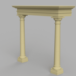 MAS TC Portco_Solid Canopy.png Download free STL file MAS Tapered Column Portico • 3D printable design, 3dprintnortheast