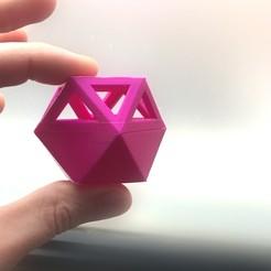 Impresiones 3D gratis Cubo octaedro Maceta o guardador Poliedrico, fmehrbald