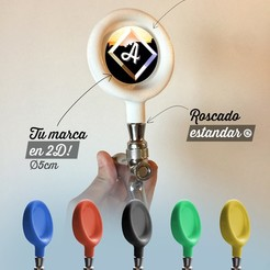 Publicad marca imprimible.jpg Télécharger fichier STL Manche de robinet à bière Personnalisable - Marque générique / graphique personnalisable • Objet pour impression 3D, fmehrbald