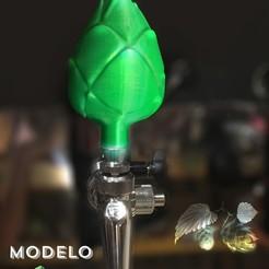 Modelo lupulo 3d.jpg Télécharger fichier STL Poignée du robinet de la bière Lupulo 3D / 3D HOP - Poignée du robinet du hachoir • Modèle pour impression 3D, fmehrbald
