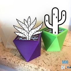 Maceta.jpg Télécharger fichier STL gratuit Poliedrica / Pot de fleurs polyédrique • Modèle imprimable en 3D, fmehrbald