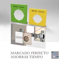 Imprimir en 3D GUIA PARA MARCAR BISAGRAS CAZOLETA 26 Y 35MM, fmehrbald