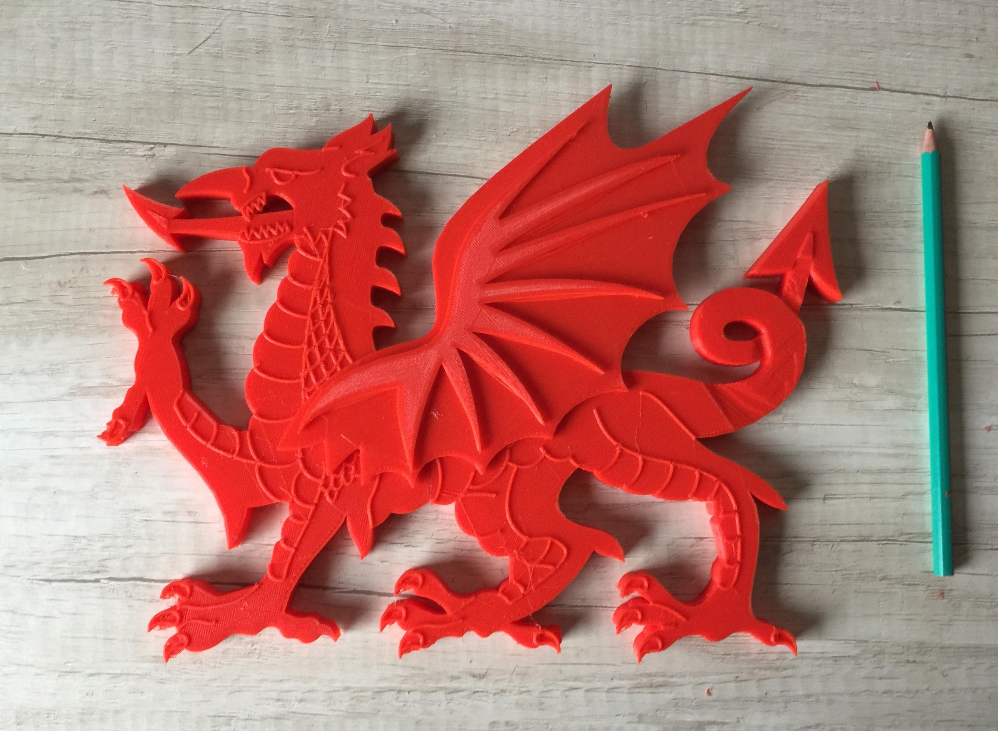 Download 3d Printer Model Wales Dragon Dragon Of Wales Cymru