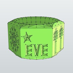 rondeserviett.jpg Download free STL file napkin ring for someone named Eve • 3D printable model, honorin