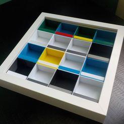 Descargar diseños 3D gratis partición para presentar las colecciones en un marco de 23x23 de una famosa marca de muebles (modelo ribba), honorin
